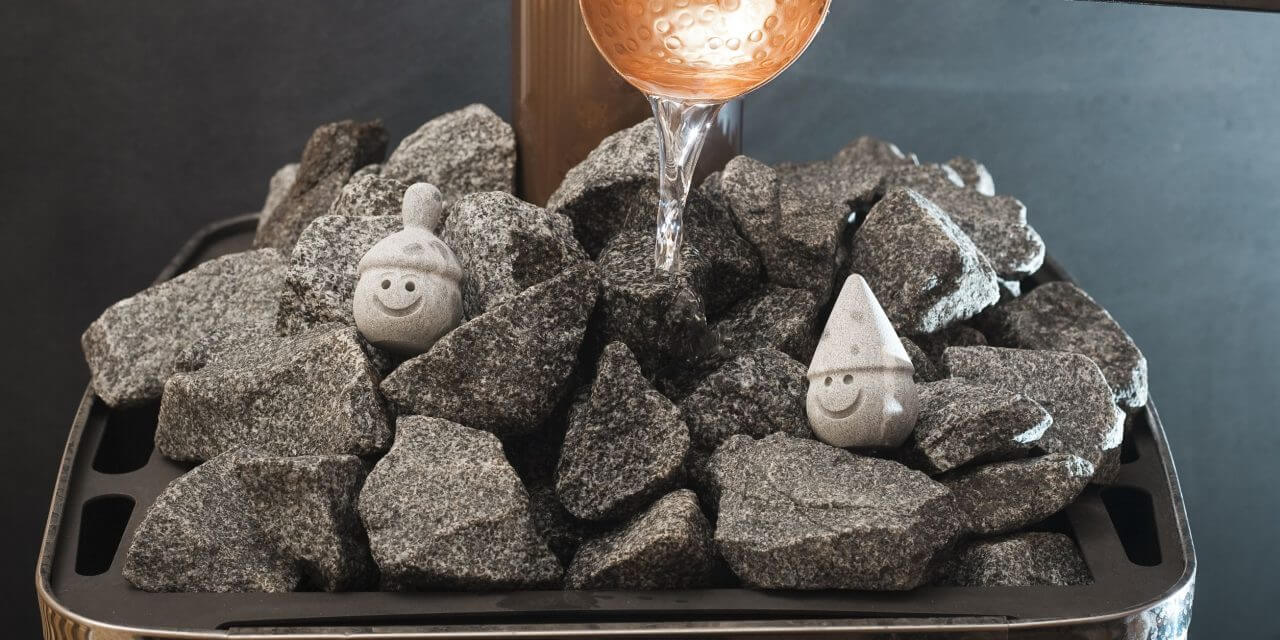 Stones in the sauna