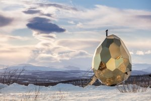 egg-shaped sauna