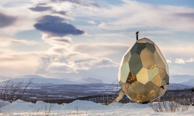 Amazing: Egg-shaped sauna