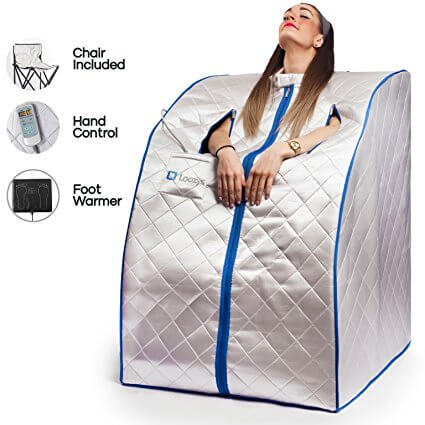 Loozys Rejuvenator Portable Infrared Home Sauna Spa | One Person Sauna For  Detox U0026 Weight Loss